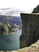 Preikestolen fjord — Stock Photo