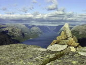 Atop of a Norway mountain — Stock Photo