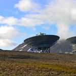Svalbard parabola antenna — Stock Photo