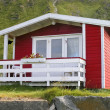 Norwegian red cottage — Stock Photo