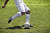 Soccer player free kick — Stock Photo