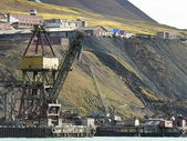 Old industrial port in svalbard — Stock Photo