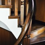 Handmade wooden spiral stairs — Stock Photo