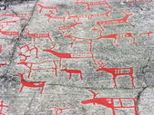 The rock art in Alta — Foto Stock