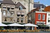 Hollanda'da kare açık restoran — Stok fotoğraf