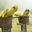 basket full of sulfur nuggets — Stock Photo