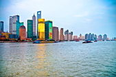 Tilted Shanghai Pudong skyline — Stock Photo