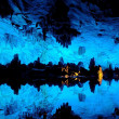 Reed flute cave in Guilin China — Stock Photo