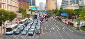 Traffic jam in Shanghai — Stock fotografie