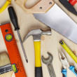 Background with tools — Stock Photo