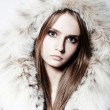 Royalty-Free Stock Photo: Girl with fur coat
