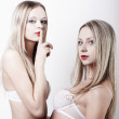 Two sexy young women — Stock Photo