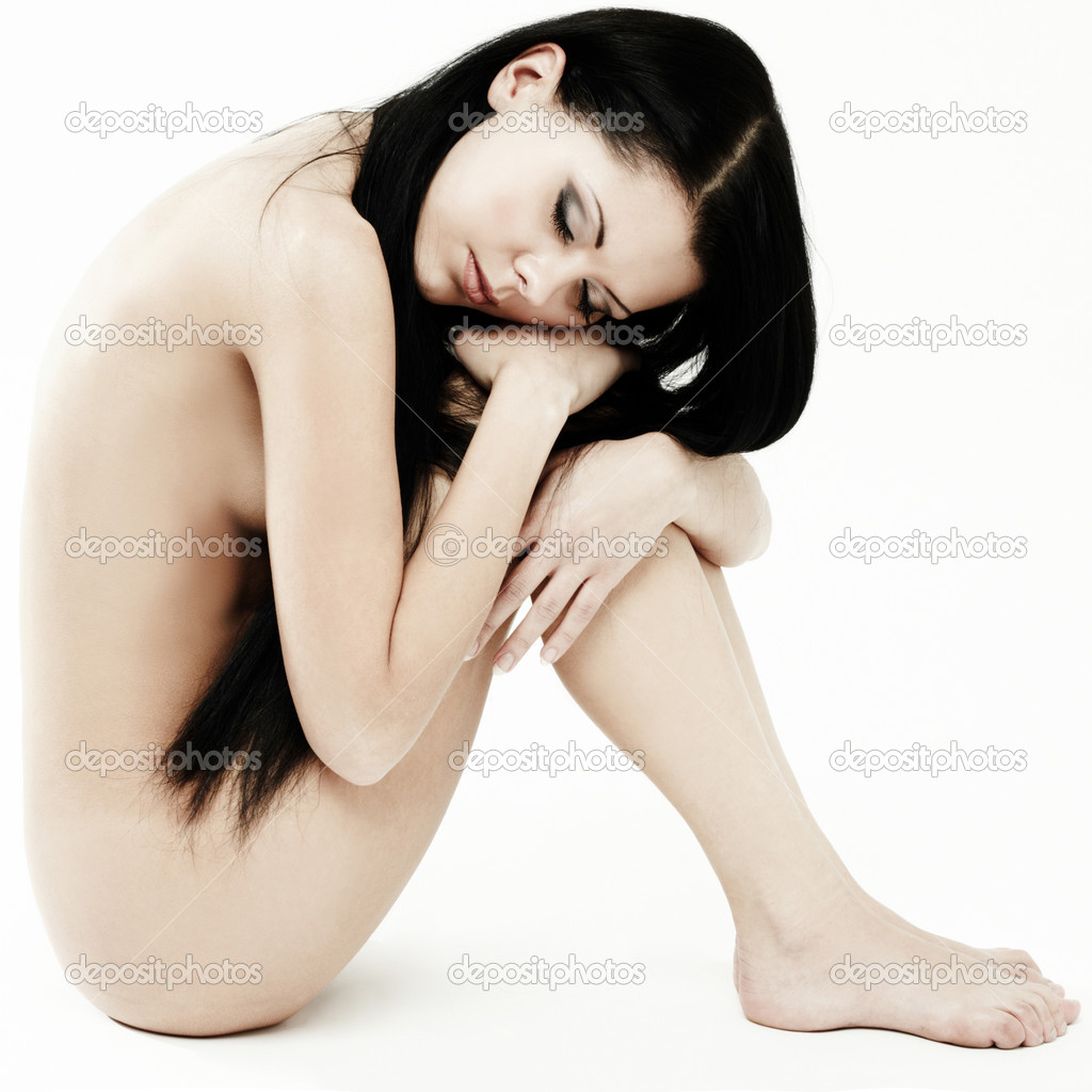 Picture of healthy naked woman over white — Stock Photo #5737563
