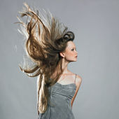 Beauty model in studio — Stock Photo