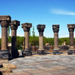Stock Photo: Ruins of Zvartnots Temple, Armenia