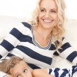 Happy mother and little girl — Stock Photo #5432053