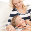 Stock Photo: Happy mother and little girl