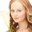 Beautiful woman with calla flower — Stock Photo #5464481