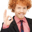 Handsome man showing ok sign — Stock Photo