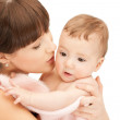 Happy mother with adorable baby — Stock Photo #5471493
