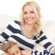 Happy mother and little girl — Stock Photo #5485025