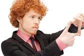 ハンサムな男の指を使ってフレームを作成します。 — ストック写真