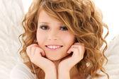 Foto de chica feliz Ángel adolescente — Foto de Stock