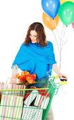 Vakantie shopper — Foto de Stock