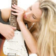 Guitar girl - Foto Stock