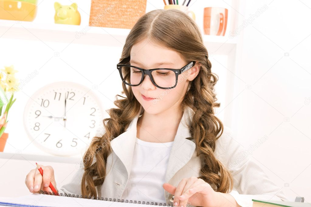 Bright picture of learning elementary school student — Stock Photo #5533383