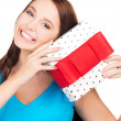 Happy girl with gift box — Stock Photo #5558473