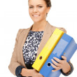 Woman with folders — Stock Photo #5573168