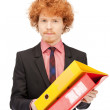 Man with folders — Stock Photo #5619428