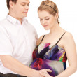 Pregnant couple waiting for baby — Stock Photo