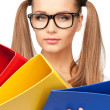 Woman with folders — Stock Photo #5648198