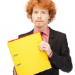Stock Photo: Mwith folders