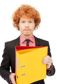Man with folders — Stock Photo