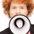 Mwith megaphone — Stock Photo #5708823
