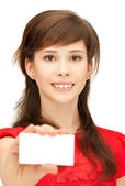 Adolescente con tarjeta — Foto de Stock