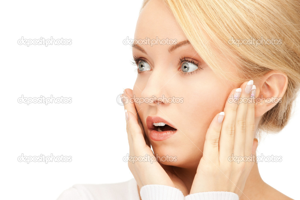 Bright picture of woman with expression of surprise — Stock Photo #5787685