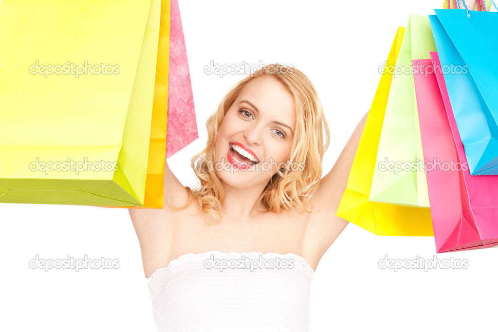 Picture of lovely woman with shopping bags — Stock Photo #5934234