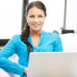 Happy woman with laptop computer — Stock Photo #6032632