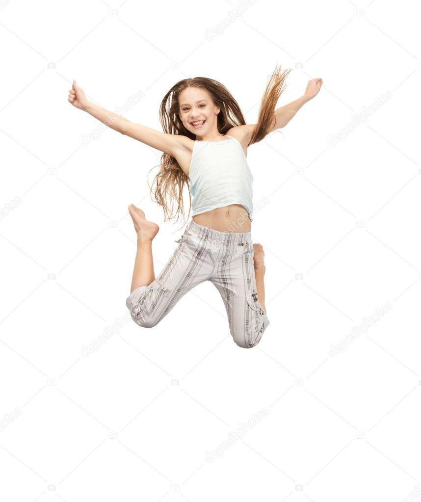 teen girl jumping for joy stock image hot girls wallpaper