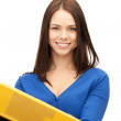 Woman with folders — Stock Photo #6248192