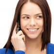 Businesswoman with cell phone — Stock Photo #6248195