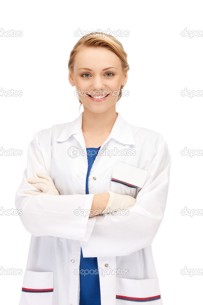 Bright picture of an attractive female doctor  Stock Photo #6258239