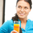 Beautiful woman with glass of juice — Stock Photo #6270916