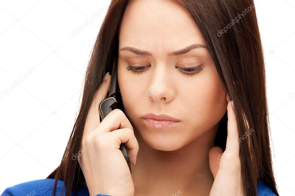 Bright picture of businesswoman with cell phone  Stock Photo #6426886