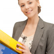 Woman with folders — Stock Photo #6435131