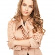 Lovely woman in coat — Stock Photo